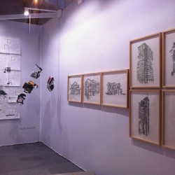 galerie Bäckerstrasse 4 au salon du dessin contemporain Drawing Now Paris 2015