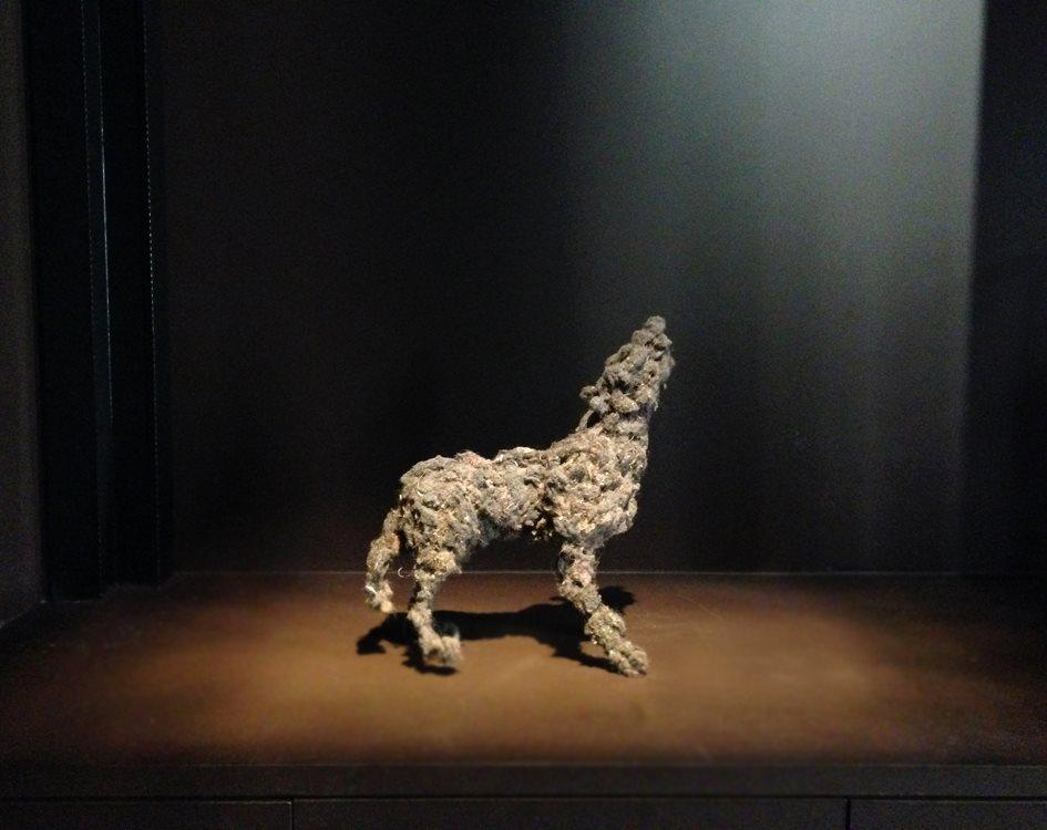 Lionel Sabatté, Petit Loup hurlant, Galerie Da End, Paris