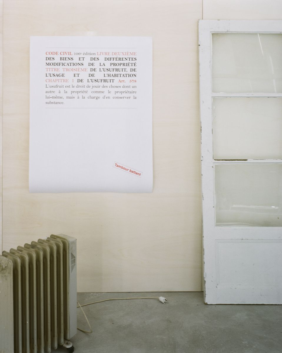 Patrick Bouchain, Tambour battant © galerie Salle Principale