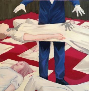 Lise Stoufflet, Cadabra, huile sur toile, 2014