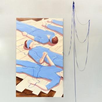 Lise SToufflet, Tous, Huile sur toile, 2015