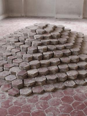 Romain Vicari, installation Cloître, Dijon, 2012