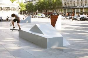 Nelson Pernisco, installation pour les Nuits de Paris 2015, Place de la République