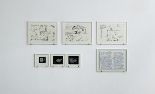 Marcos Avila Forero, Dessins préparatoires, Estenopeicas Rurales, Restitutions de la mémoire, du 10 octobre au 28 novembre 2015, Galerie Dohyang Lee