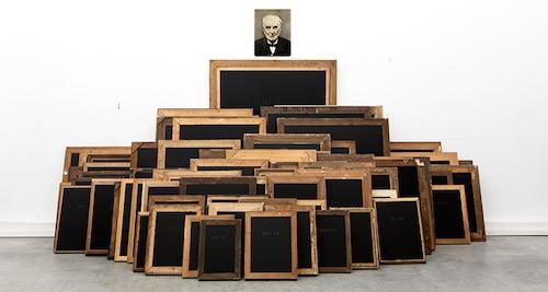 Raphaël Denis, La Loi normale des erreurs, installation, Galerie Sator Paris 2015