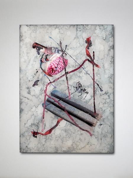 David de Tscharner, Glendowan (Planche #3), 2015, techniques mixtes sur plexiglas, 50 x 37,5 cm Courtesy Galerie Escougnou-Cetraro