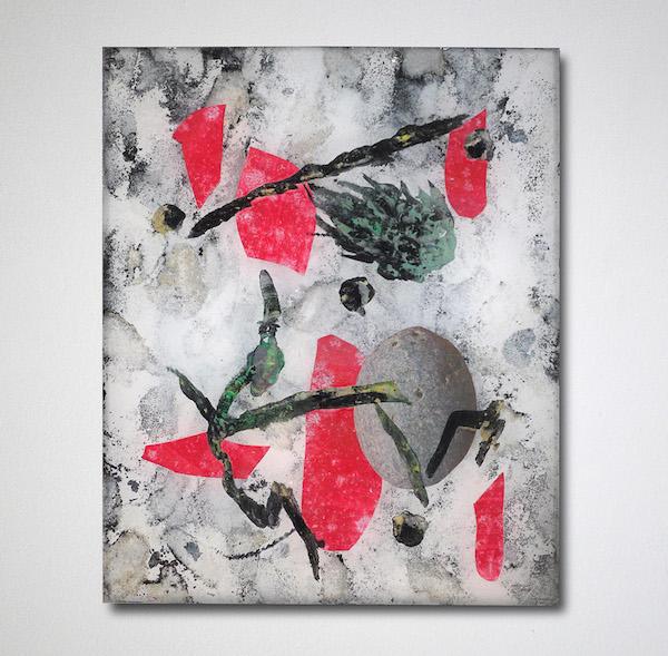 David de Tscharner, Wexford (Planche #1), 2015 Techniques mixtes sur plexiglas 30 x 25 cm, Courtesy Galerie Escougnou-Cetraro