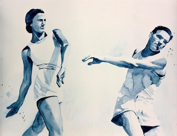 Giulia Andreani, La gifle, 2015 125x95cm, aquarelle sur papier, Courtesy Artiste