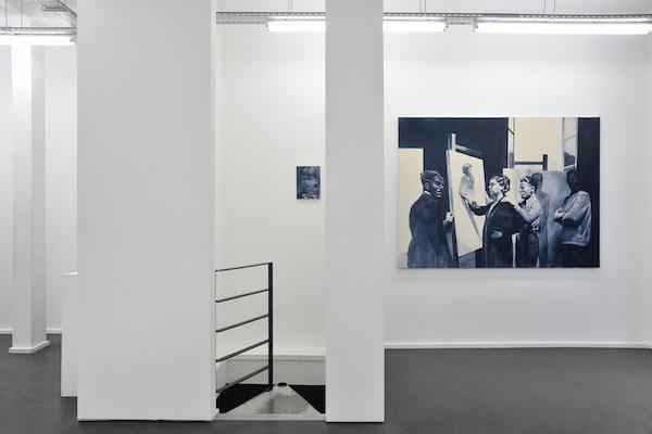 Giulia Andreani, Le cours de dessin, vue de l'exposition Tout geste est renversement. Photographie Rebecca Fanuelle ©galerie Maïa Muller