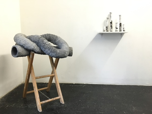 Laurent Le Deunff, Un long noeud de trompes (partie III), 2013, Exposition Polder II, Glassbox Paris