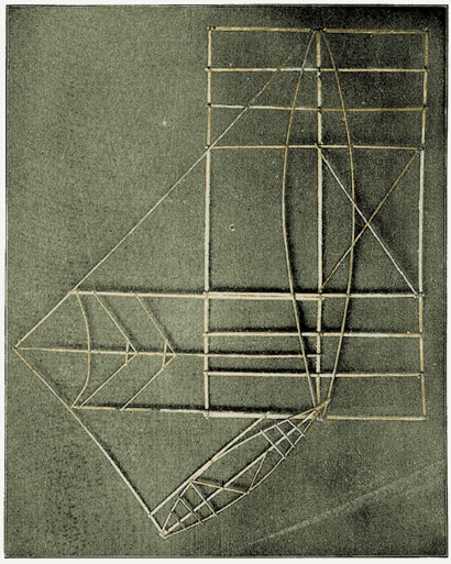 Medosou ou Mattangs, carte polynésienne de la houle en bouts de bois
