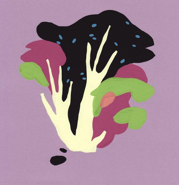 Florent Groc, Olivier, 2013. Gouache sur papier de couleur