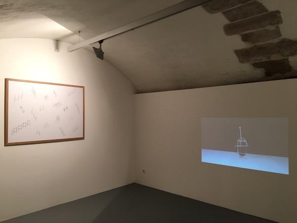 Sylvain Bourget, vue d'exposition #2. Long distance communication, galerie Marine Veilleux