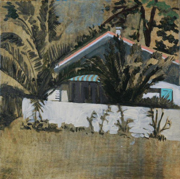 Yann Lacroix, sans titre, 2o15, huile sur toile 30 x 30 cm