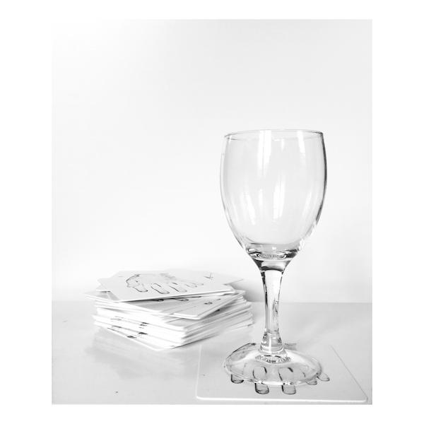 Robin Lopvet Jamais sans modération, 2016sous-bock vinyle 8 x 8 cméd. 25 ex. production Born And Die