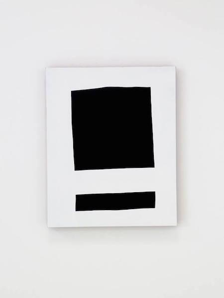 Nicolas Chardon, Carré noir (souligné), acrylique sur tissu, 100 × 81 cm, 2015 © Nicolas Chardon. Courtoisie de l'artiste & Galerie Jean Brolly, Paris.