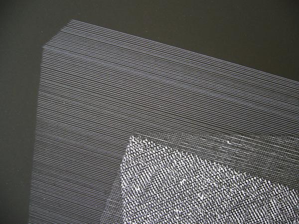 Plan #4 (détail), 2013. dessin au cutter sur papier couché sur chrome, 50 x 65 cm.