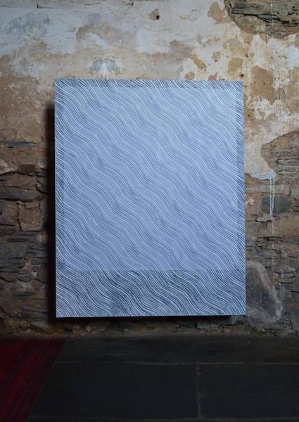 Marine Provost, Fantôme n°4, 120×150 cm, peinture acrylique et digigraphie sur châssis toilé, 2013.