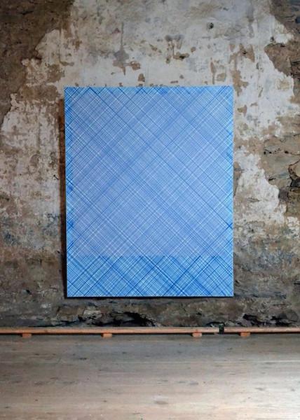 Marine Provost, Fantôme n°7, 120×150 cm, peinture acrylique et digigraphie sur châssis toilé, 2013.