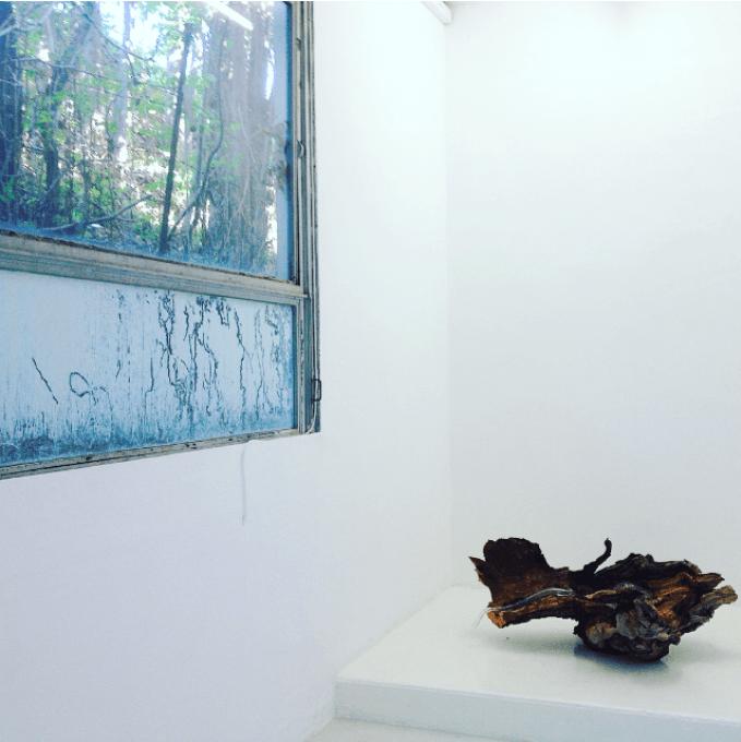 Vue de l'exposition avec les œuvres de Sati Mougard