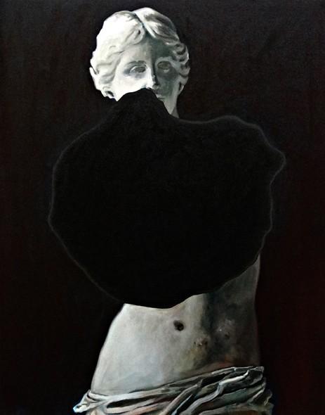 Coraline de Chiara, La cécité, 2016. Huile sur toile, 82x103cm.