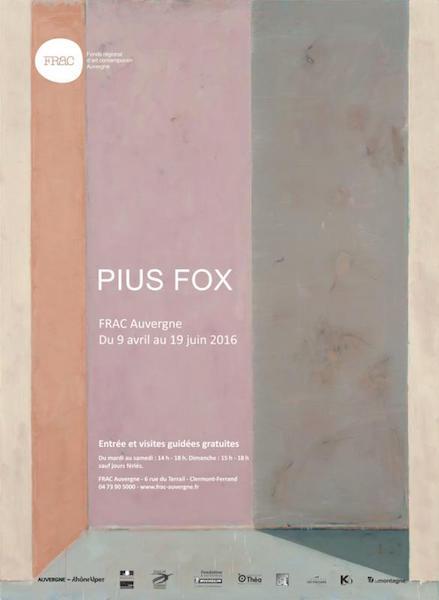 Affiche Pius Fox. Tous droits réservés FRAC Auvergne.