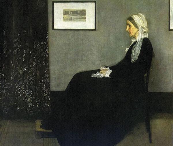 James Abbott McNeill Whistler (1834-1903) Arrangement en gris et noir n°1, dit aussi Portrait de la mère de l'artiste 1871 Huile sur toile H. 144,3 ; L. 162,5 cm © RMN-Grand Palais (Musée d'Orsay) / Jean-Gilles Berizzi