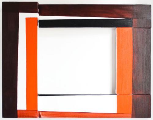 Aldric Mathieu, Fenêtre, 2012. Ensemble de quatre peintures acryliques sur toile. Dimensions variables. Courtesy Galerie Gourvennec Ogor, © Aldric Mathieu