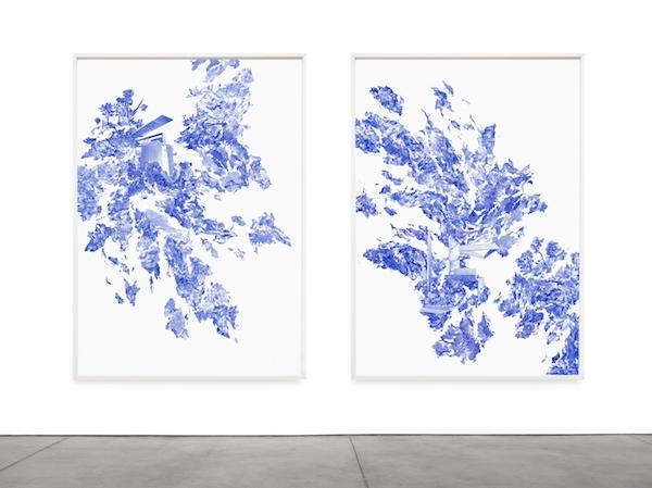 NO TRESTLE, STANDARD et CONFORM STEP CANONIC VOID Dessin, collage, sérigraphies sur papier de soie 126 x 170 cm chaque 2016
