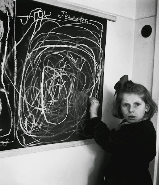 David Seymour, Tereska draws her home, 1948. Magnum Image Reference