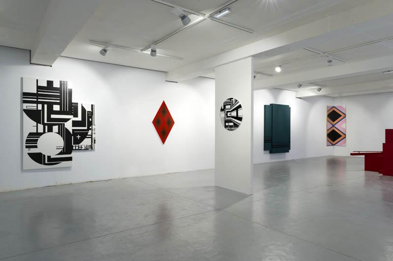 Oeuvres de Stokvis (x2), Malek, Mercier, Beck et de Kooning. Photo Marc Domage.