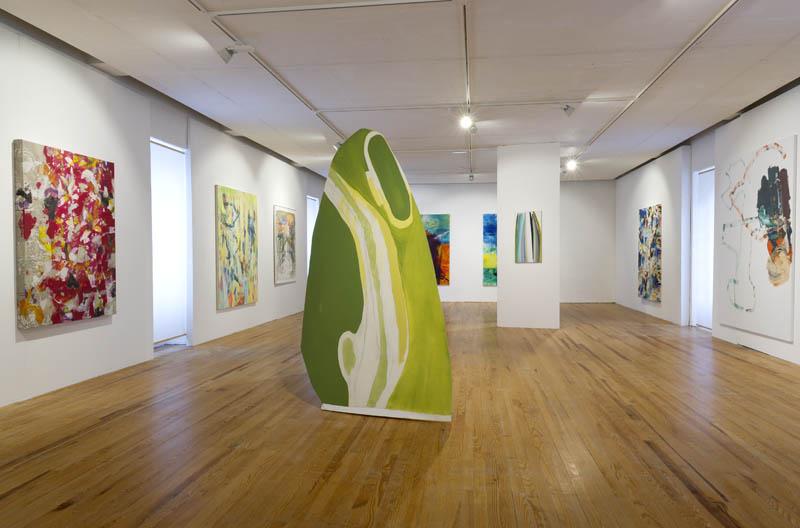 Oeuvres de Thurman, Chalendard, Whitney, Eberle, Bissière, Farb, Chalendard et Boutterin. Photo Marc Domage.