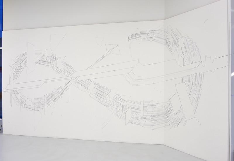 Keita Mori, Bug report (Circuit), 2015. Vue de l'exposition «Glaner l'éphémère», Pontault-Combault