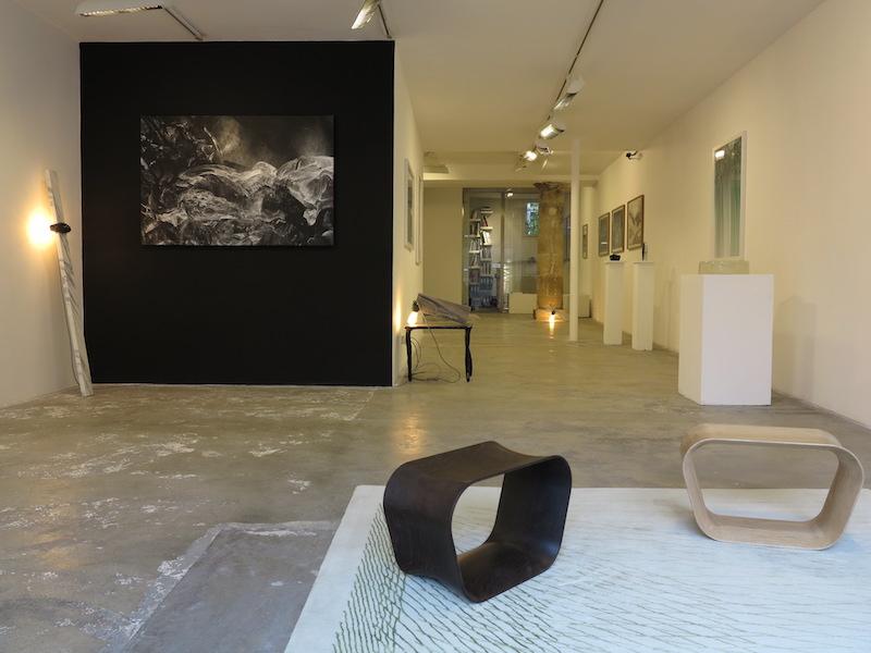 Vue de l'exposition Under the Cherry Moon, galerie Dominique Fiat, Paris 2016