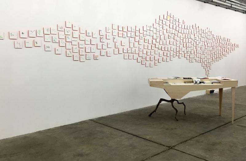 Julie Michel, (birds)flock, vue de l'exposition Hasards Heureux à la Galerie de la Salle des Machines (Friche la Belle de Mai), juin 2016