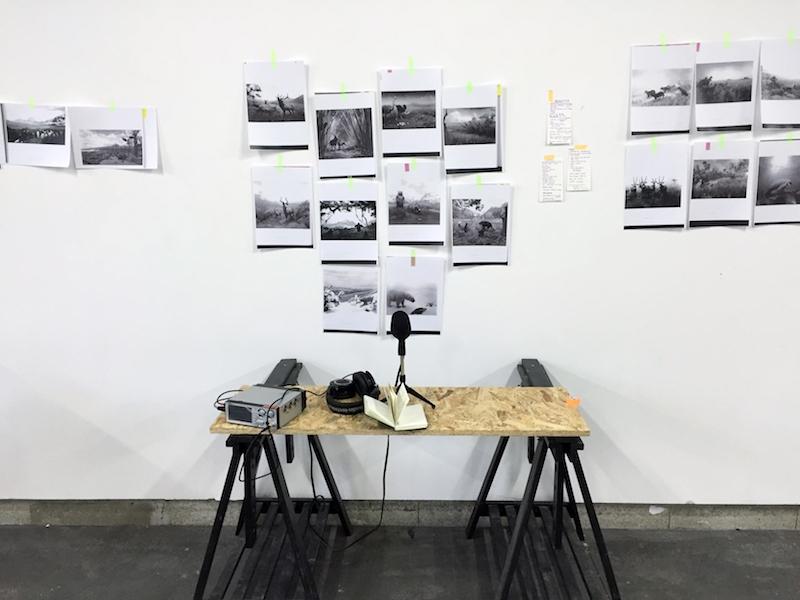 Vue d'atelier, Julie Michel, 28 mars 2016 © Astérides