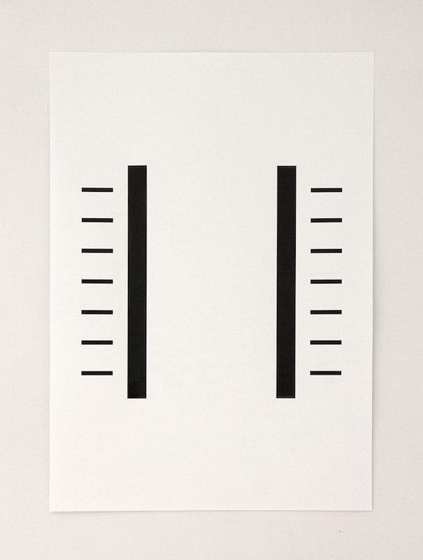 YIA ART FAIR #07 (Paris, Le Carreau du Temple). Vera Molnar, Sigma, Acrylic on Canvas, 80 x 80 cm, 1965 -2013. (Courtesy Galerie DAM, Berlin)