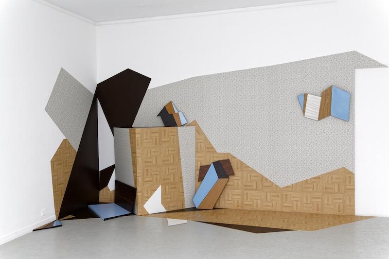 Cécile Chaput, The slant point, 2016. Installation Dimensions variables. Photo : Laurent Ardhuin