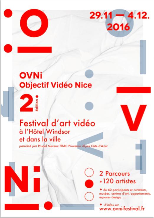 [AGENDA] 29.11→04.12 – OVNi, Objectif Vidéo Nice – Festival d'Art Vidéo – Nice