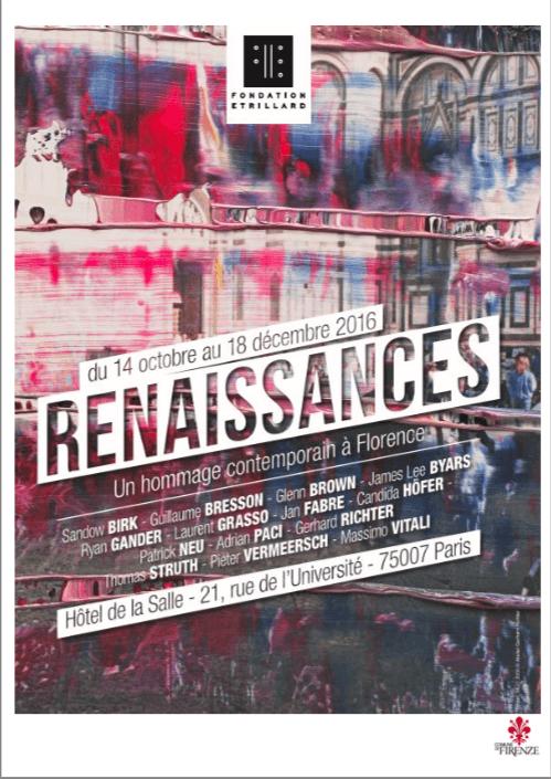 [AGENDA] Renaissances, Un hommage contemporain à Florence – Fondation Etrillard – Paris