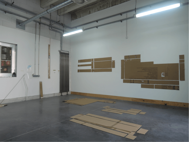 Vue d'atelier, Victoire Barbot, juin 2016 © Astérides