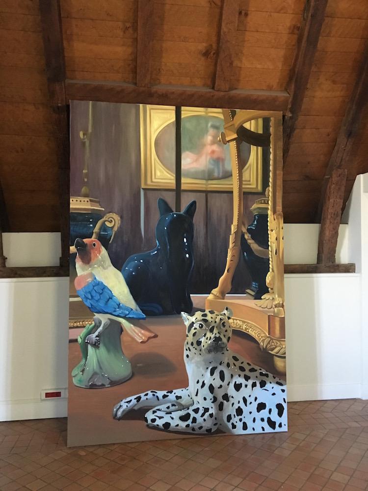Coraline De Chiara, Le Petit, Les Valets et la Sultane, Huile sur toile, 270 x 168 cm, 2016