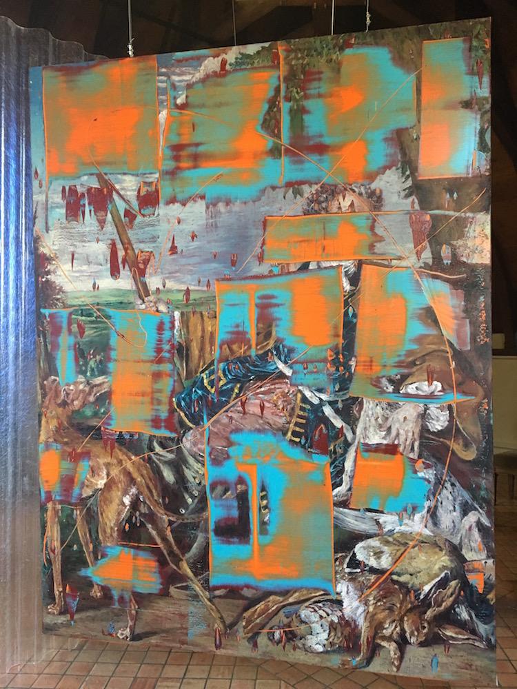 Julien Des Monstiers, Le Chasseur (après Desportes), Huile sur toile, 250 x 190 cm, 2016