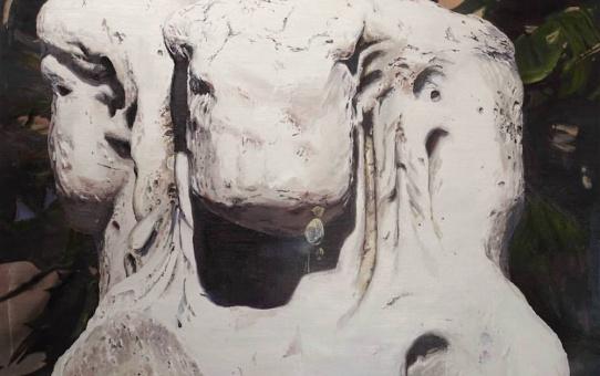 Mireille Blanc, Figures, 2016. Huile sur toile. Prix international de peinture Novembre à Vitry.