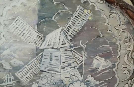 Mireille Blanc Tableau, 2015 Huile sur toile 120 x 85 cm