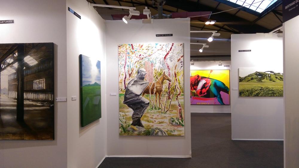 Vue de ST-ART 2016, Foire européenne d'art contemporain de Strasbourg - Stand de la Galerie Bertrand Gillig