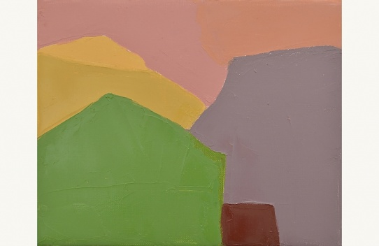 Etel Adnan, Sans titre, 2012. Huile sur toile. Courtesy Etel Adnan et Galerie Sfeir Semler Hambourg
