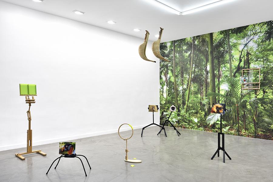Vue de l'exposition personnelle d'Annabelle Arlie - Galerie Derouillon Paris. Photo : Rebecca Fanuele