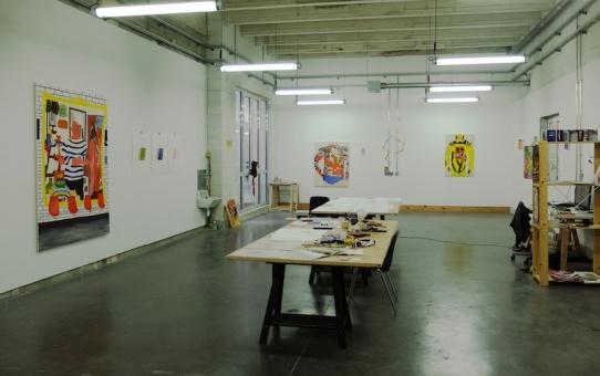 Elvire Caillon - Vue d'atelier - Résidence Astérides Marseille