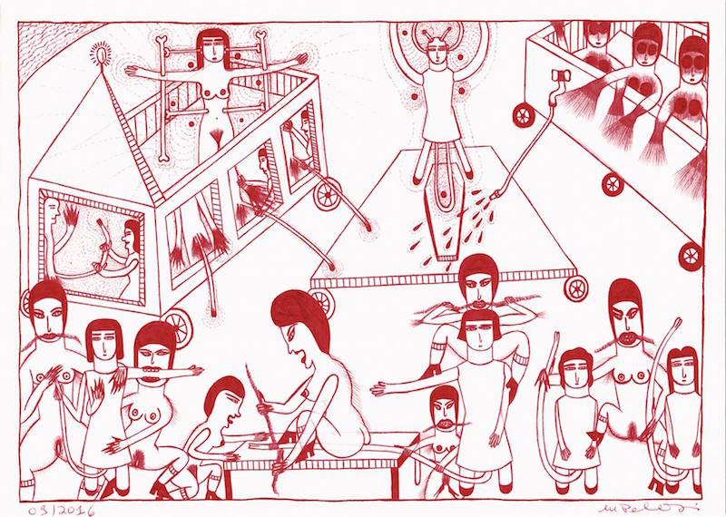 [AGENDA] 28.01→25.02 – Marilena Pelosi – Catharsis – Galerie Christian Bert art brut Paris